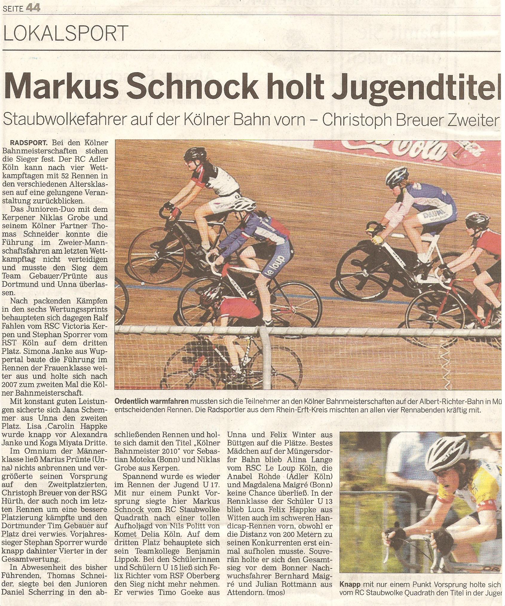 Bericht aus der Rundschau vom 08.09.2010